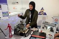 A custom PCB milling machine, by engineer Afrah Abdulaziz AlMutairi.