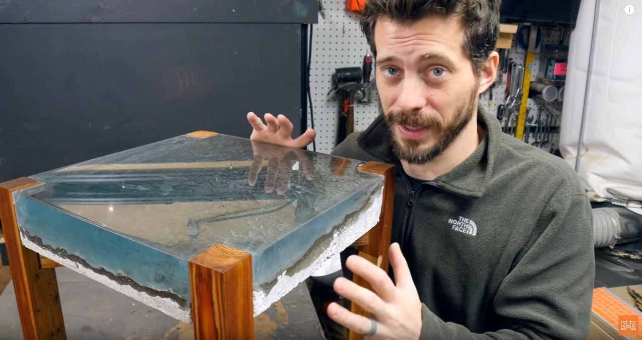 Use Epoxy to Build an Ocean Table