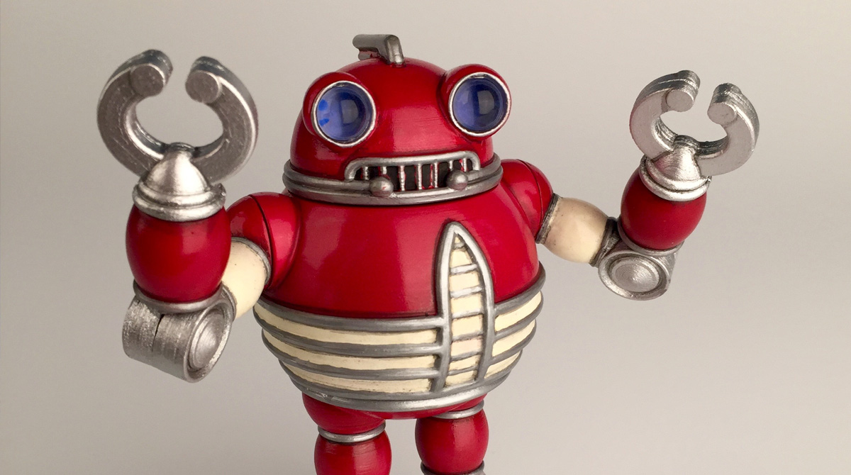 These Cute Retro Droids Are Actually 3D Printed