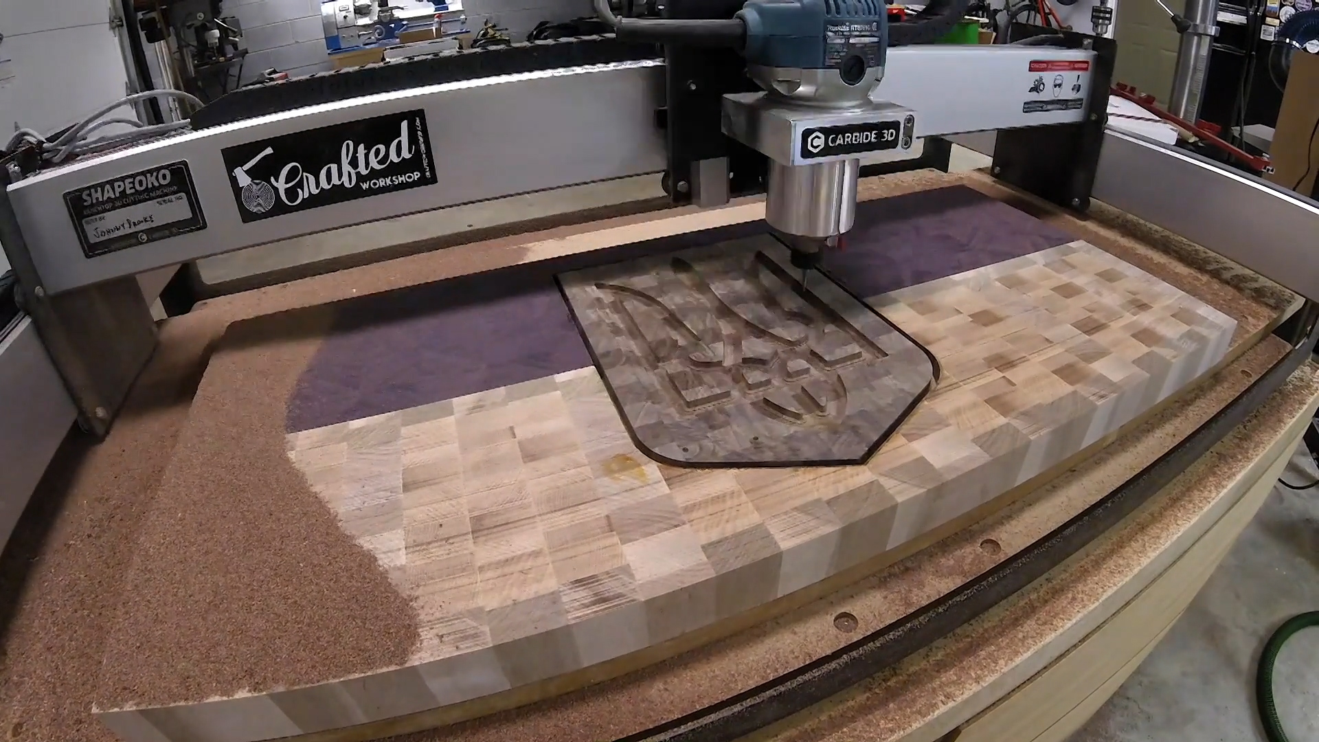 Crafted Workshop: End Grain Cutting Board with CNC Inlay