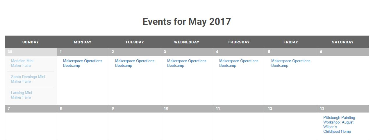 Did You Know We Have a Community Calendar?