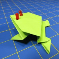 Light-Up Origami Frog