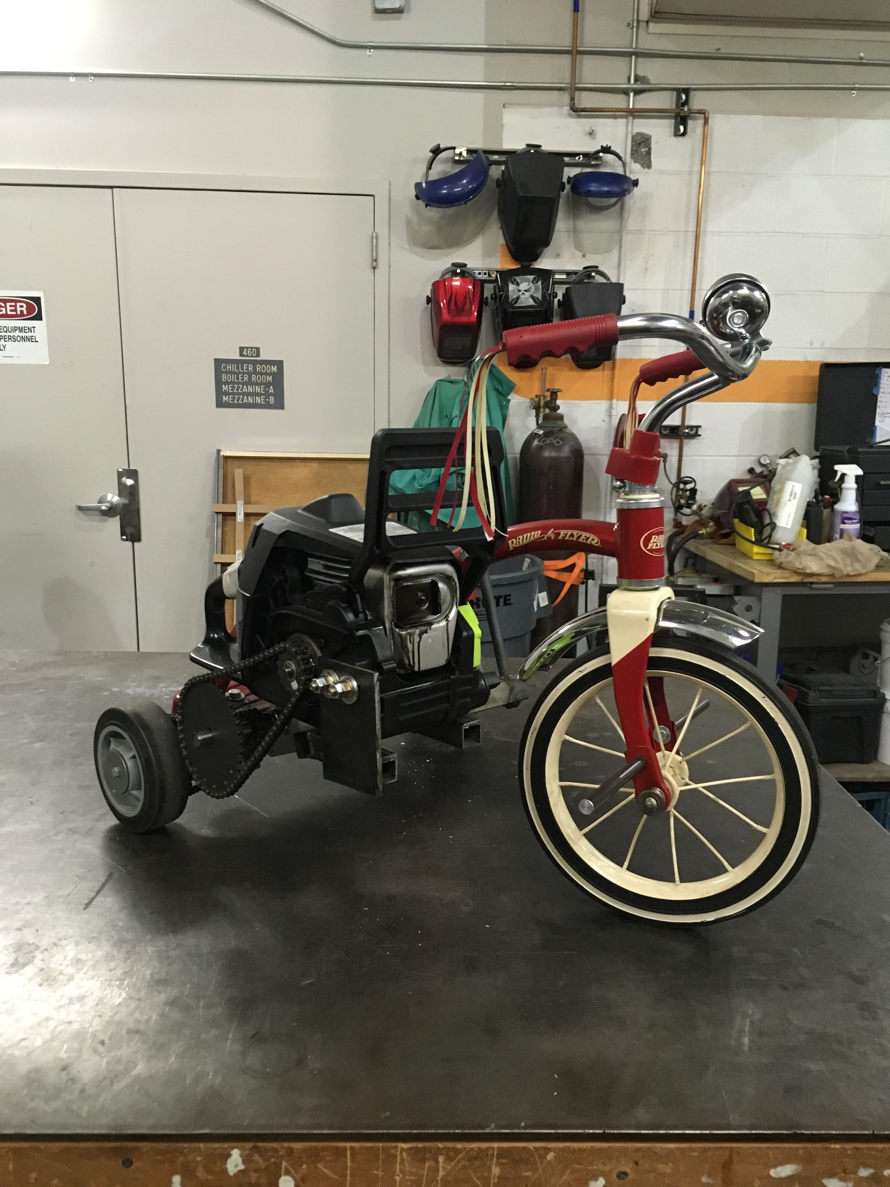 This Supercharged Tricycle Uses an Upcycled Chainsaw Motor