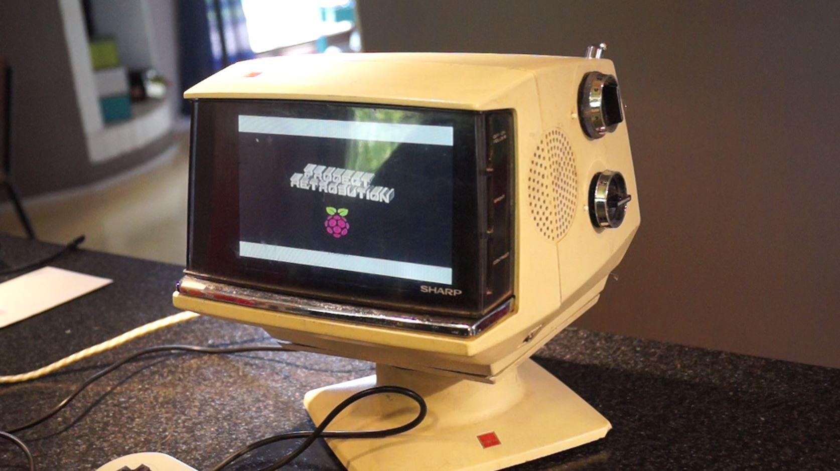 Converting a Retro Portable TV into a Raspberry Pi Video Game Console the Easy Way