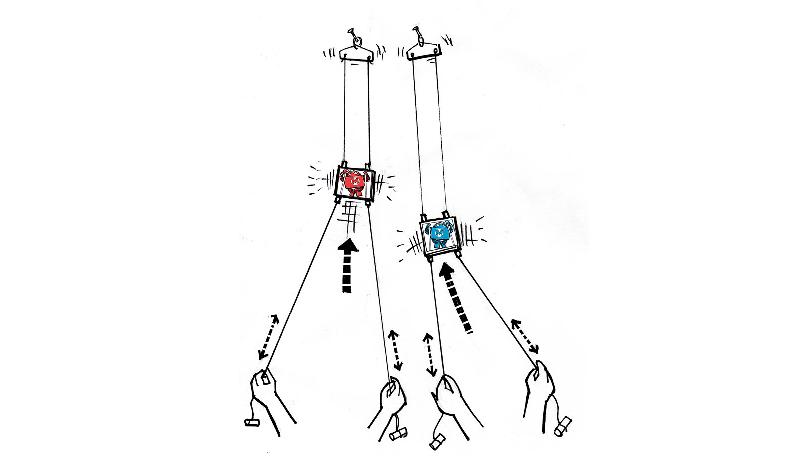 Race a Friend with These Traditional String Climbing Toys