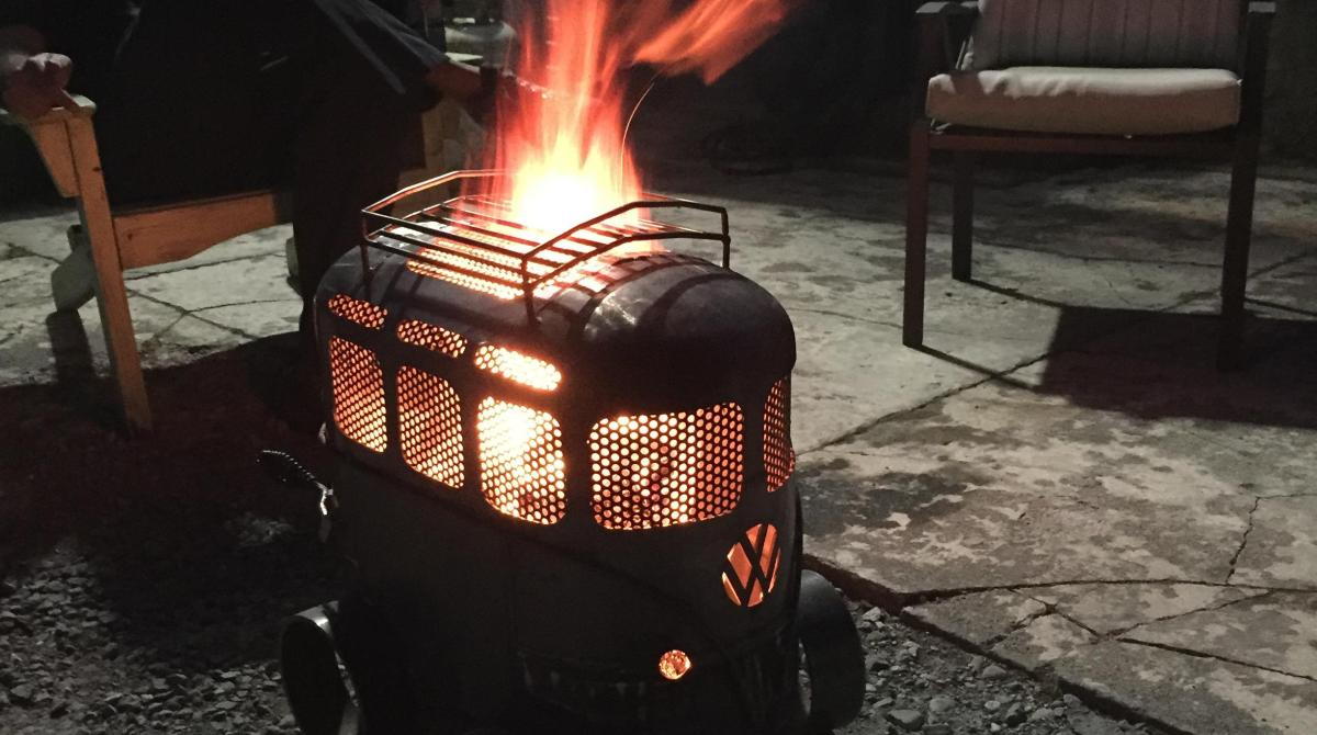 Transforming A Propane Tank Into A Vw Bus Inspired Fire