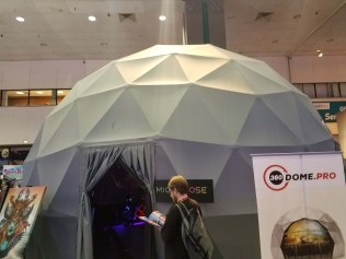 Enclosed dome. It fit about 15 people.