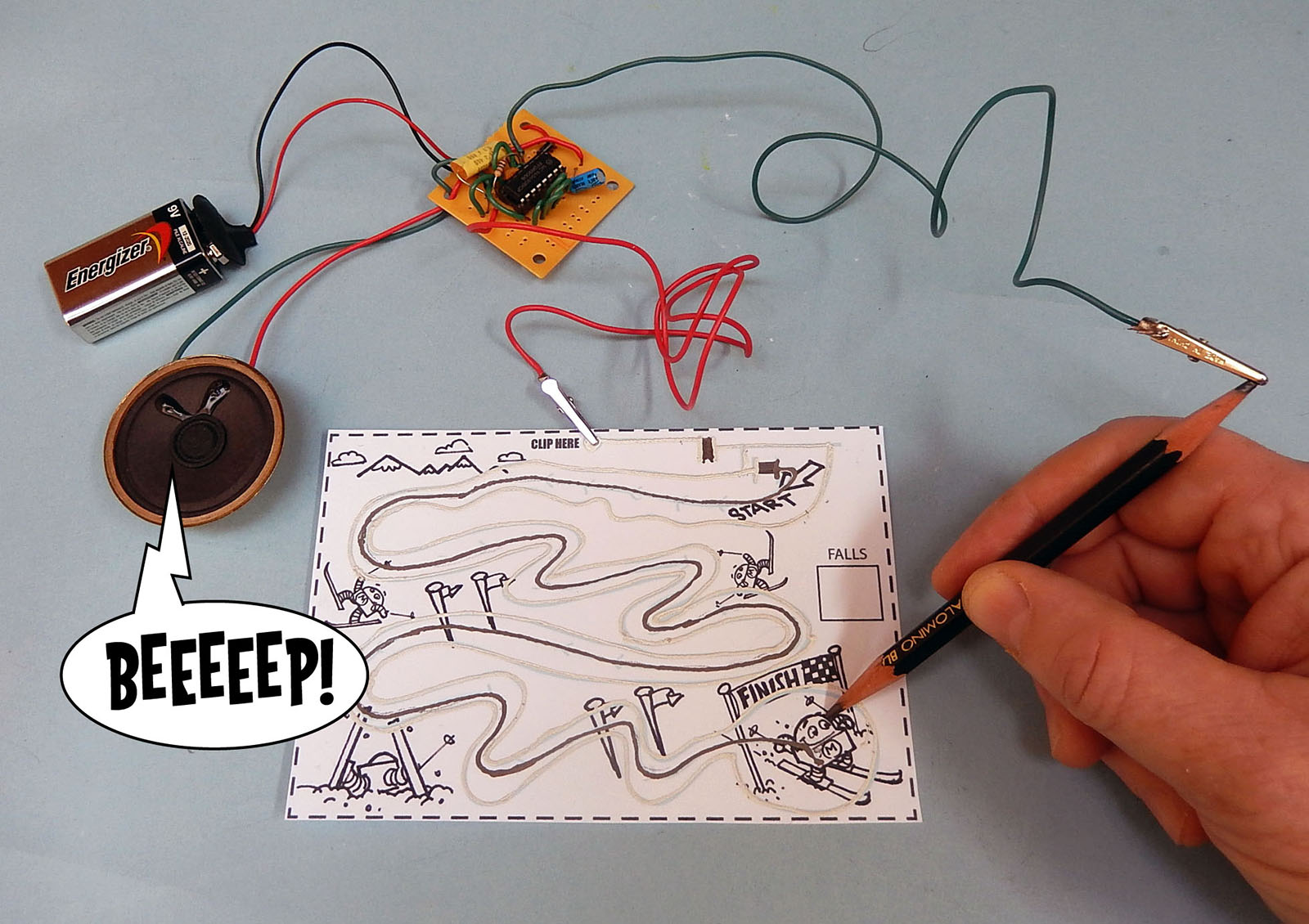 Build An Electronic Audio Game With A Pencil Paper And Conductive Circuit Scribe Is Rollerball Pen That Writes In Ink 3 Figure F