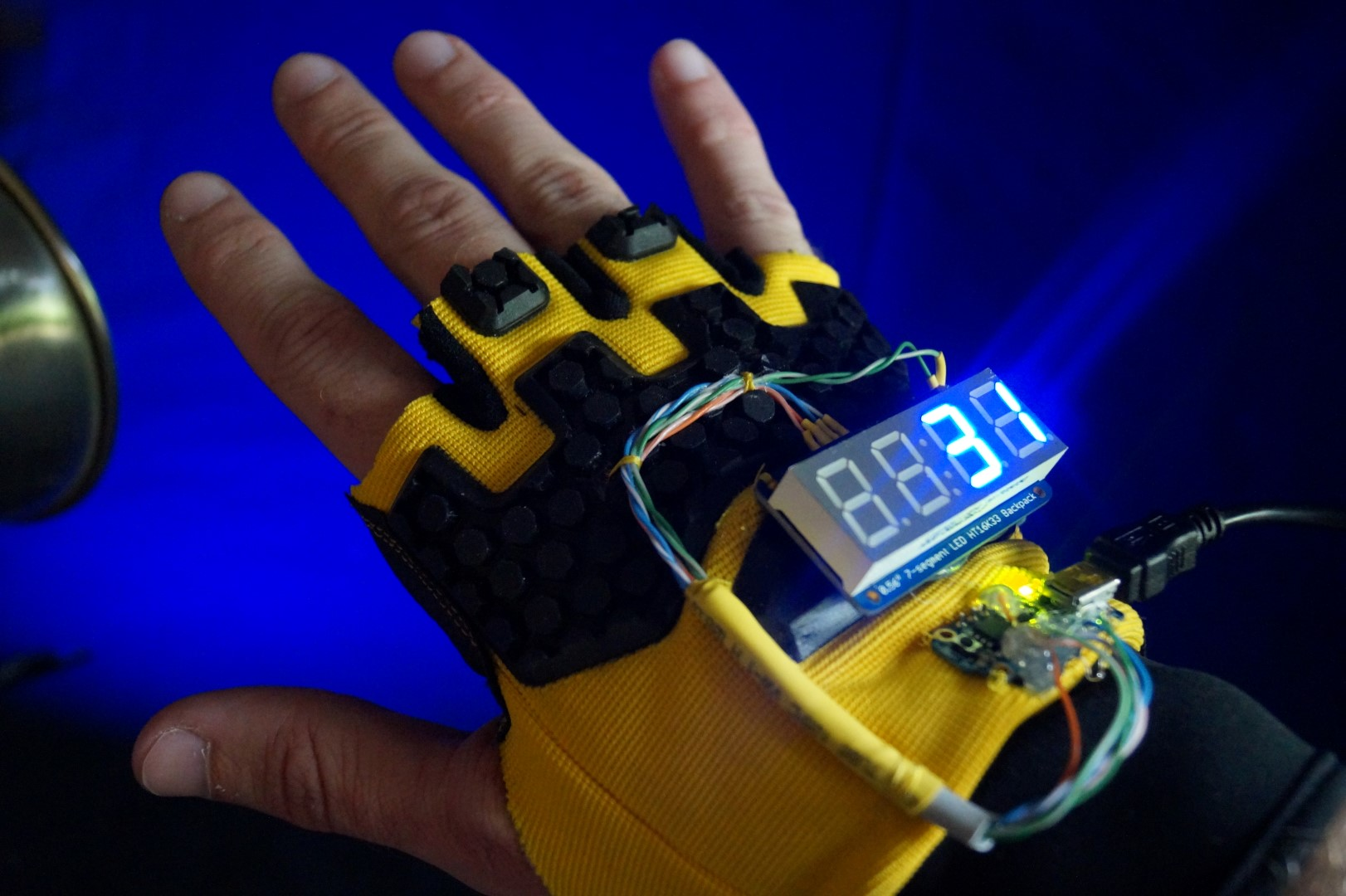 Hacking Together A Smart Glove to Count High Fives at World Maker Faire