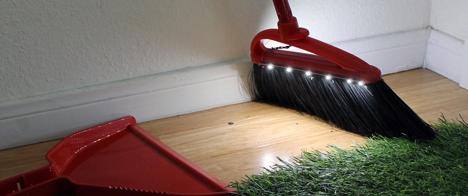 build an led broom to light up life s dark corners make
