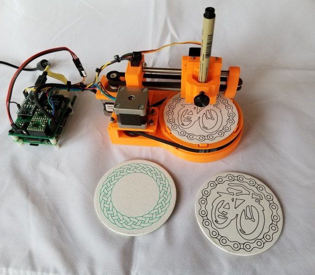 These Tiny Drawbots Put Unique Doodles on Coasters