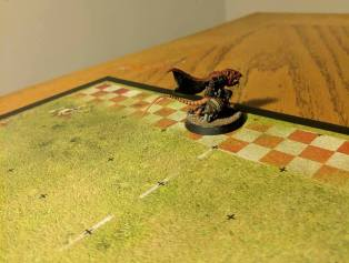 On the last play of the last down of the game, my Skaven Gutter Runner sneaks into the endzone to win the game.
