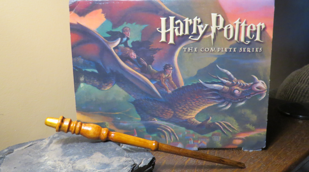 Hand turned wand styled after Professor McGonagall's. Photo: Andrew Terranova
