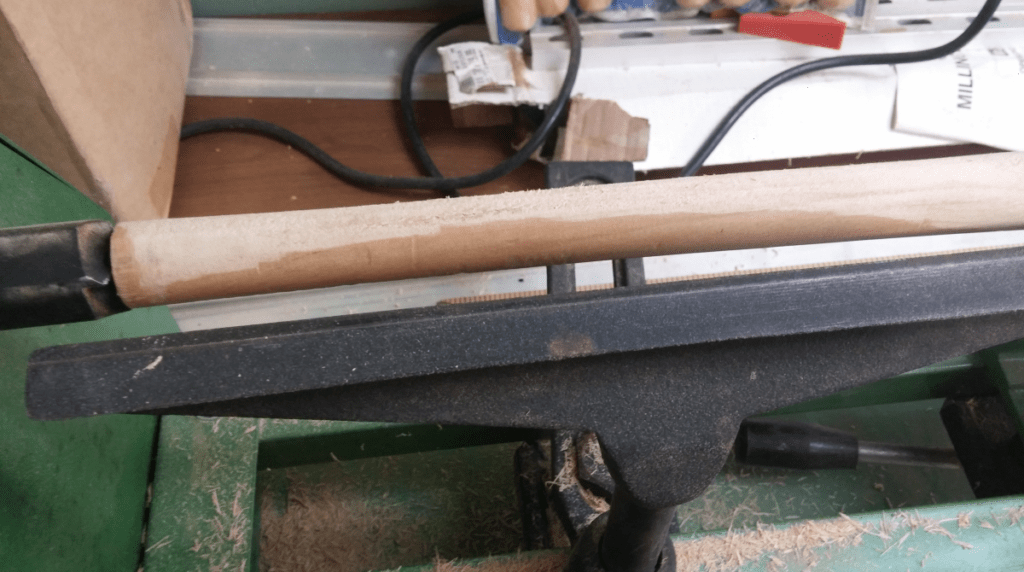 Make a magic wand. After several passes, some of the original finish on the dowel was still visible. Photo: Andrew Terranova