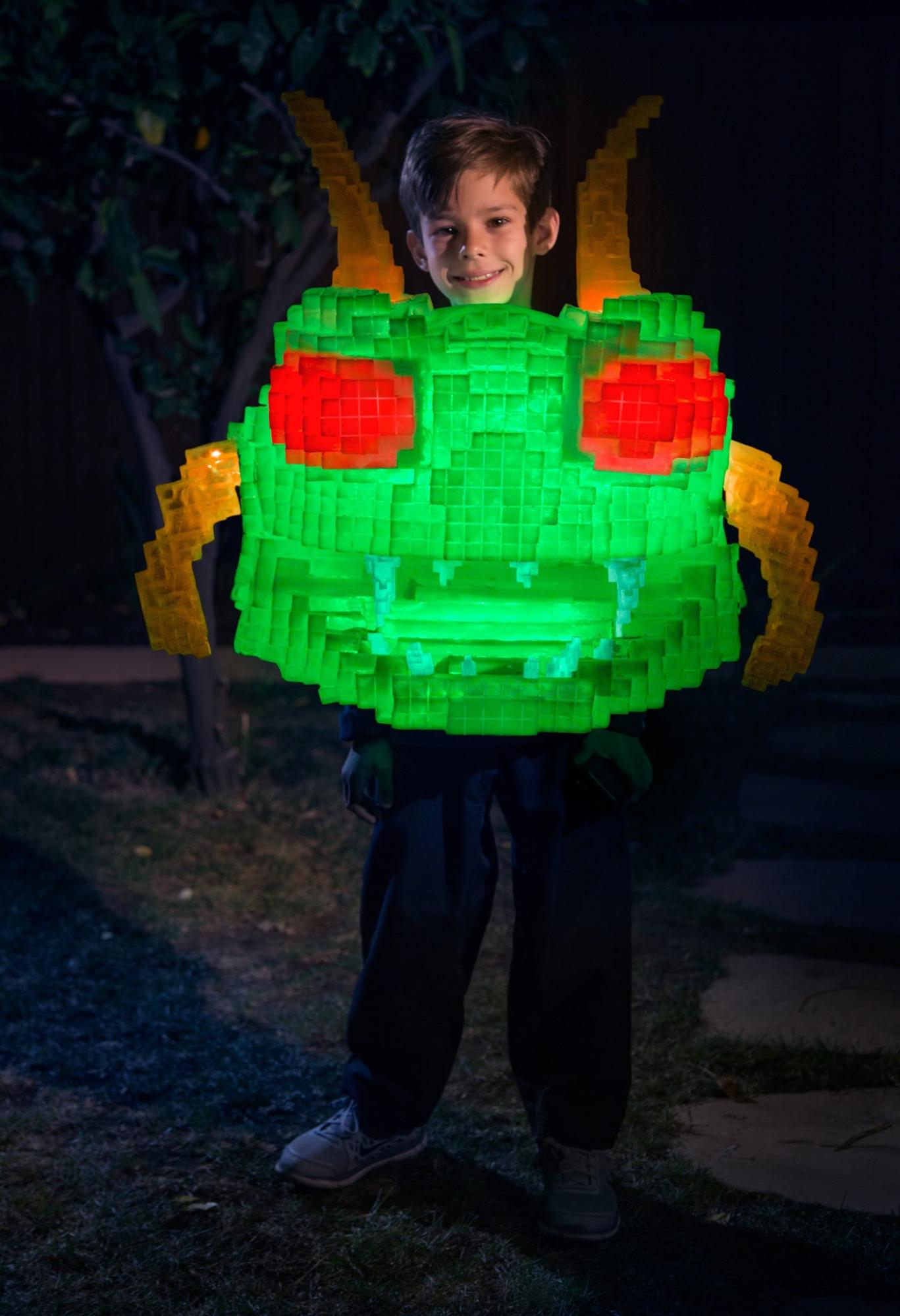 last year after halloween our family came up with the crazy idea of making an 8 bit looking centipede halloween costume inspired by the movie pixels and