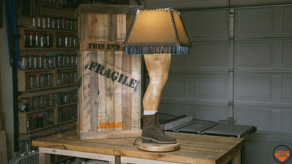 Manly Leg Lamp Puts a Twist on the Classic Christmas Story Light | Make: