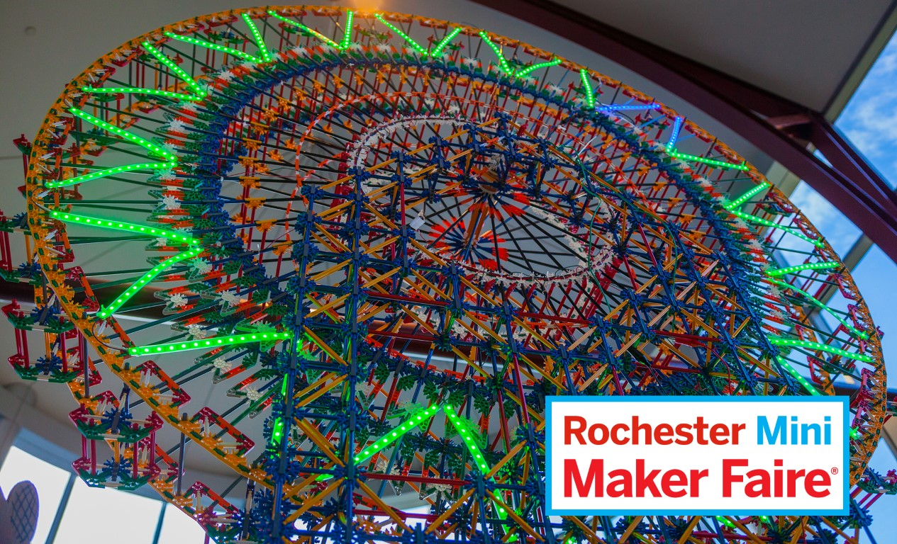 Arcade Games, Theme Park Rides, and Toothpick Sculptures at Rochester Mini Maker Faire