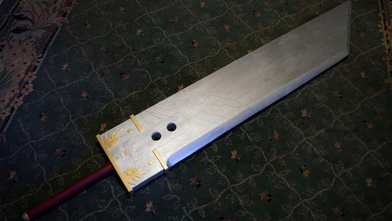Construct Cloud's Buster Sword from Final Fantasy VII