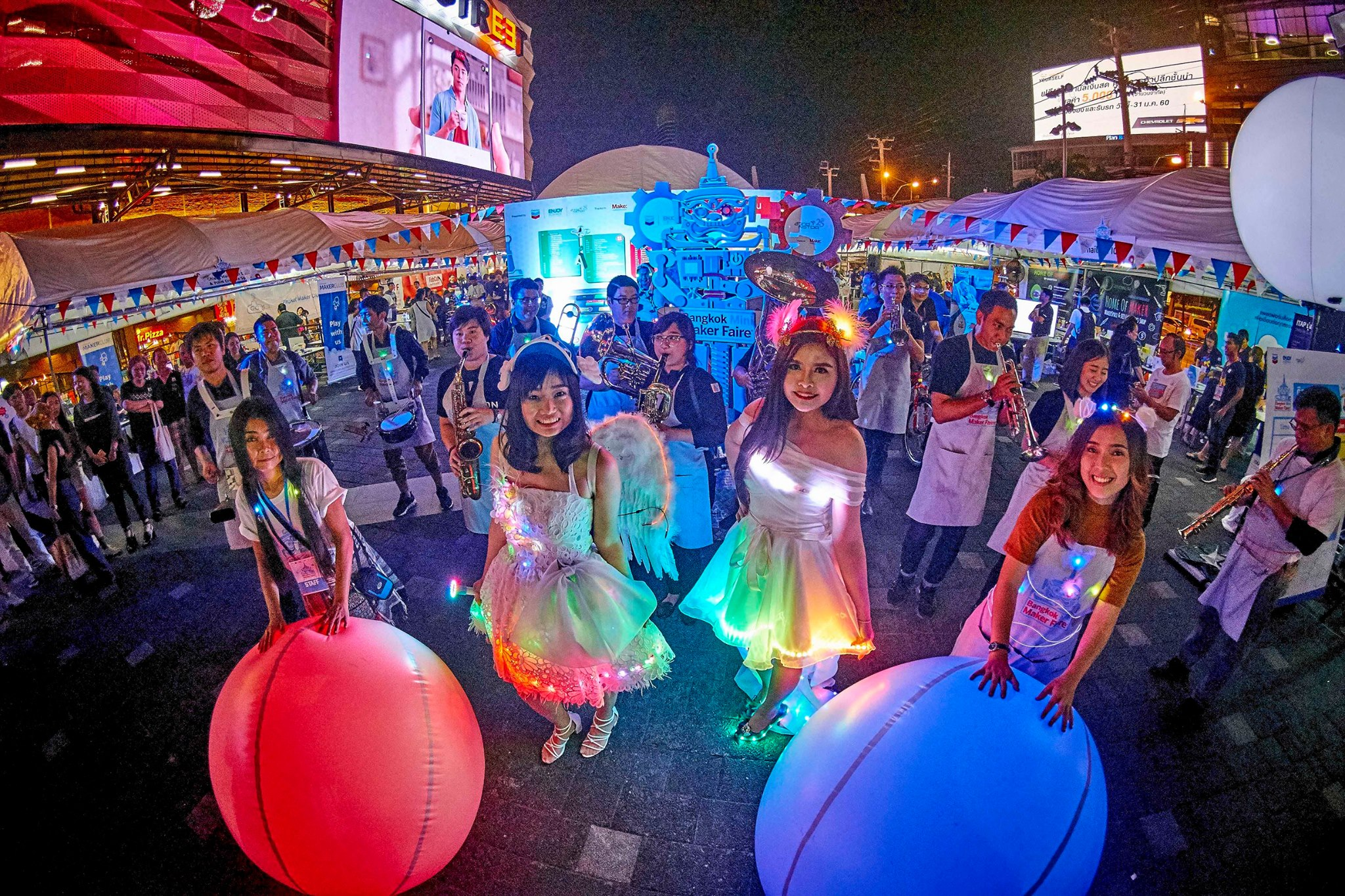 Maker Faire Bangkok Celebrates with Huge Electric Parade