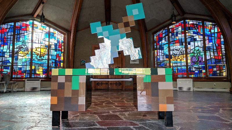 Build a Minecraft Themed Computer Desk