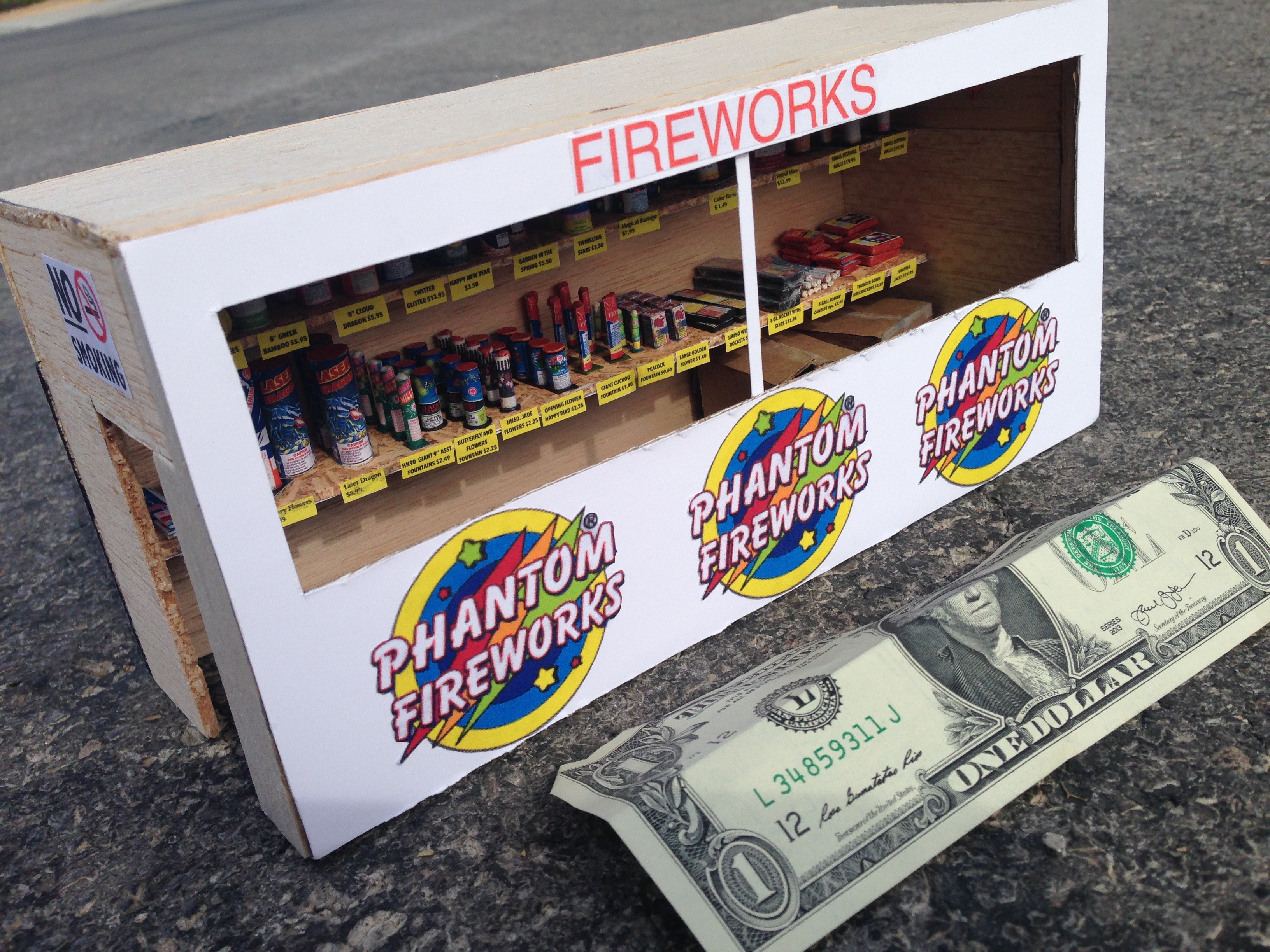 This Miniature Fireworks Stand Goes Out with a Bang