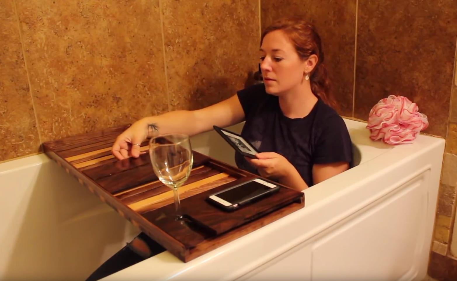 Building a Bath Tub Entertainment/Workstation