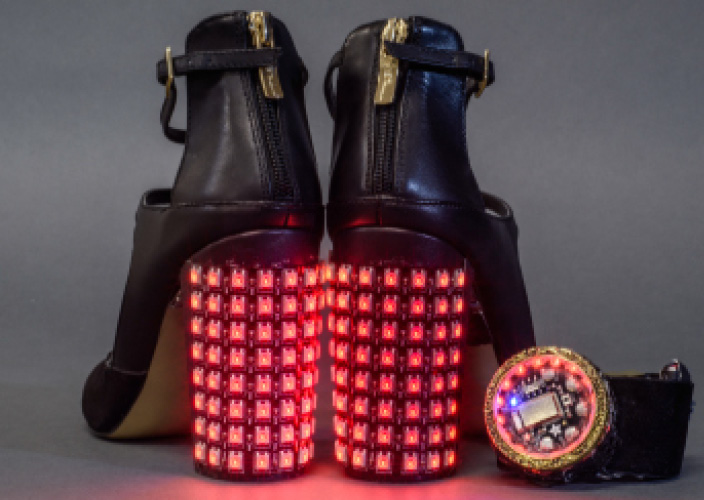Insta-Hue LED Party Heels | Make: