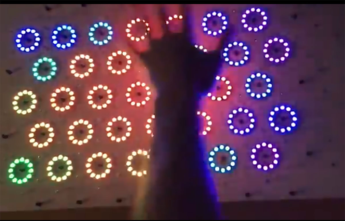 Motion Reactive LED Table Lights Up Our Hearts