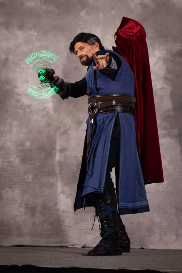 A person dressed as Dr. Strange