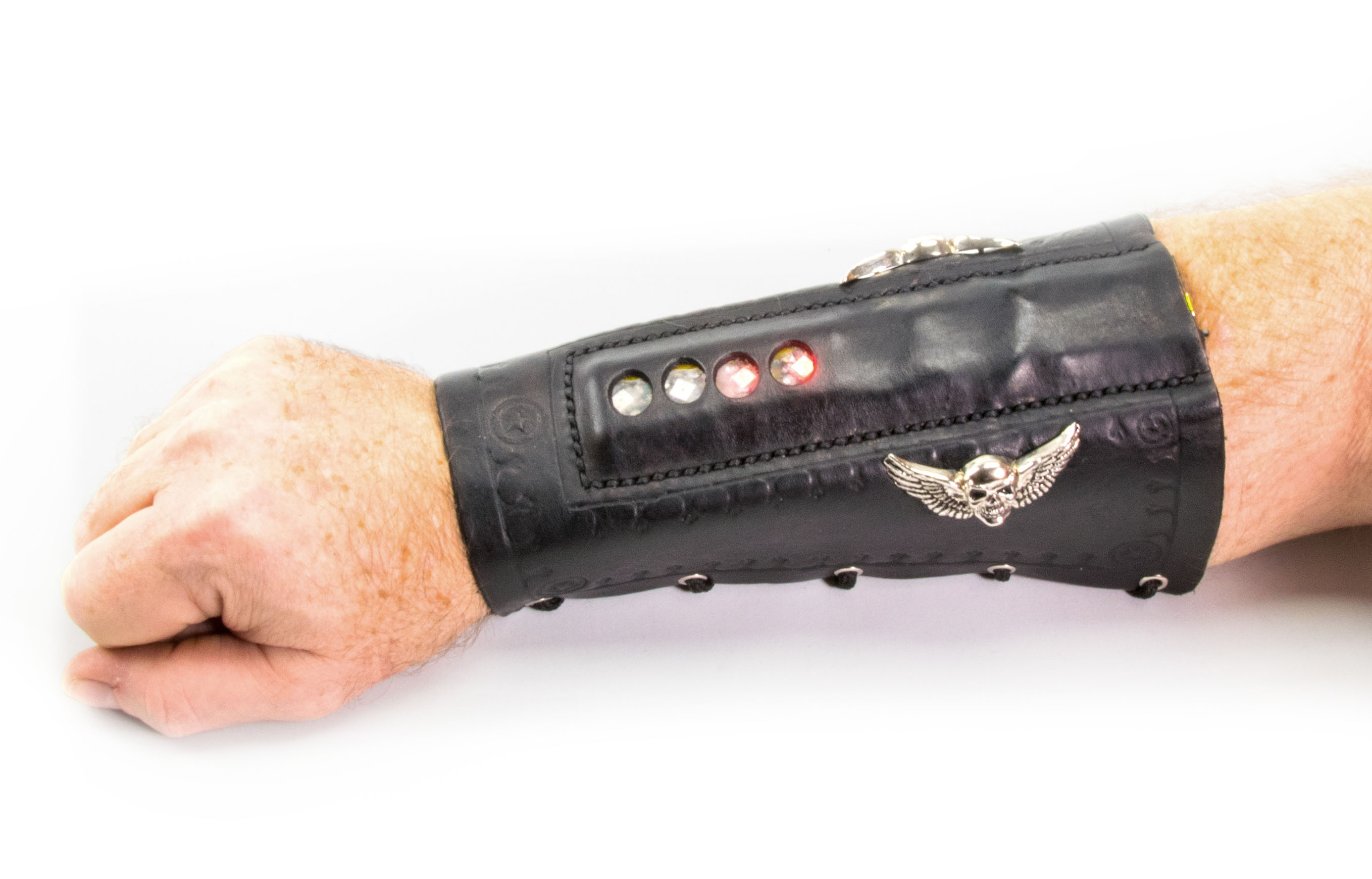 Light Up Leather Arm Braces | Make: