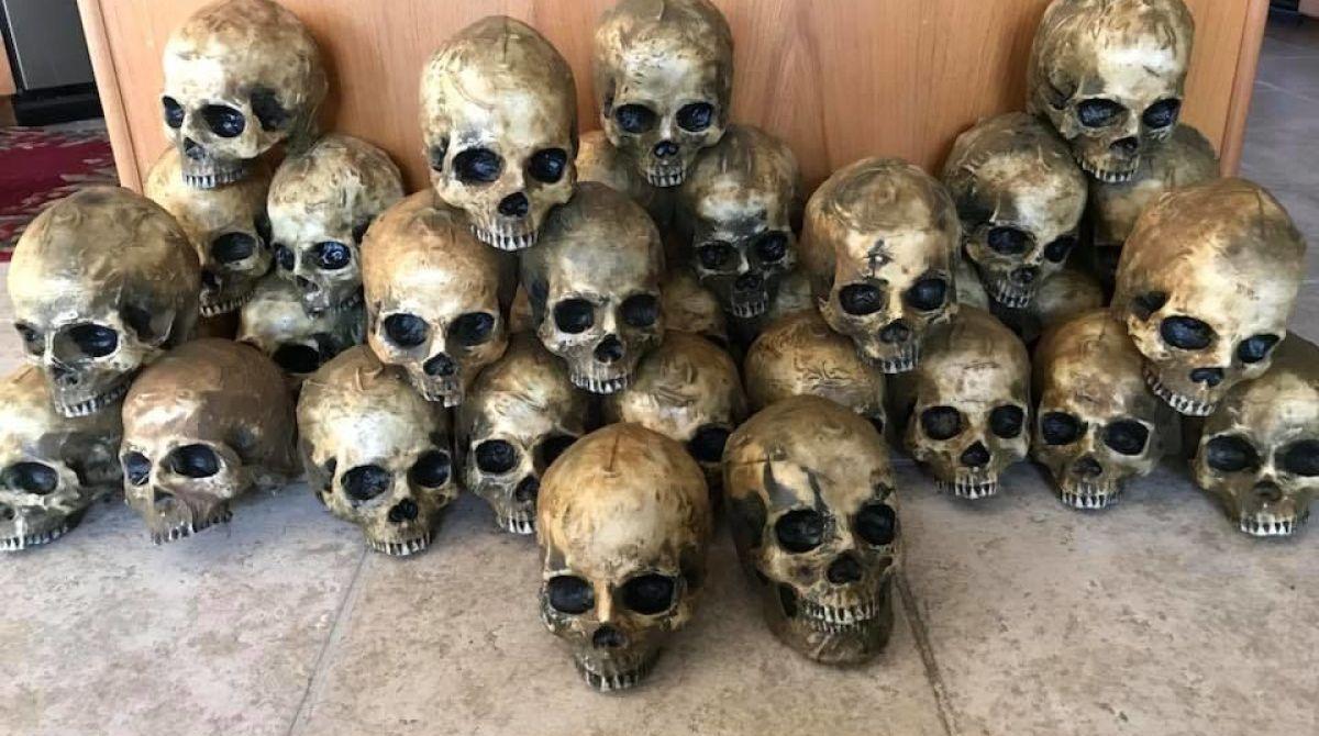 Making Milk Jug Skulls