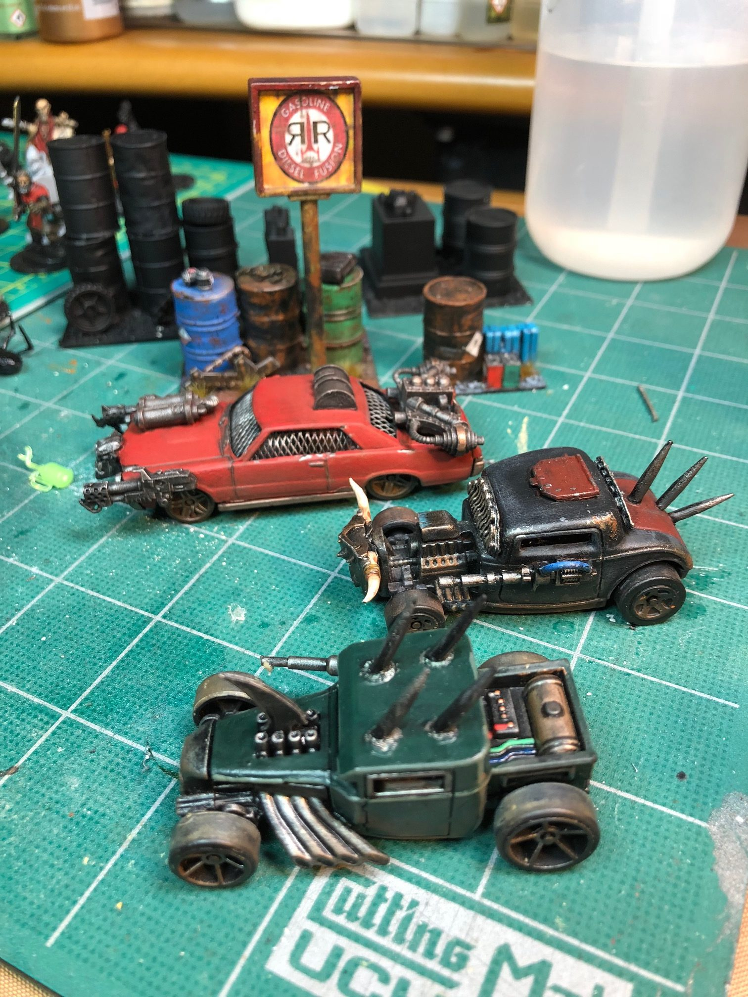 Converting Die Cast Toy Cars into Post-Apocalyptic Combat
