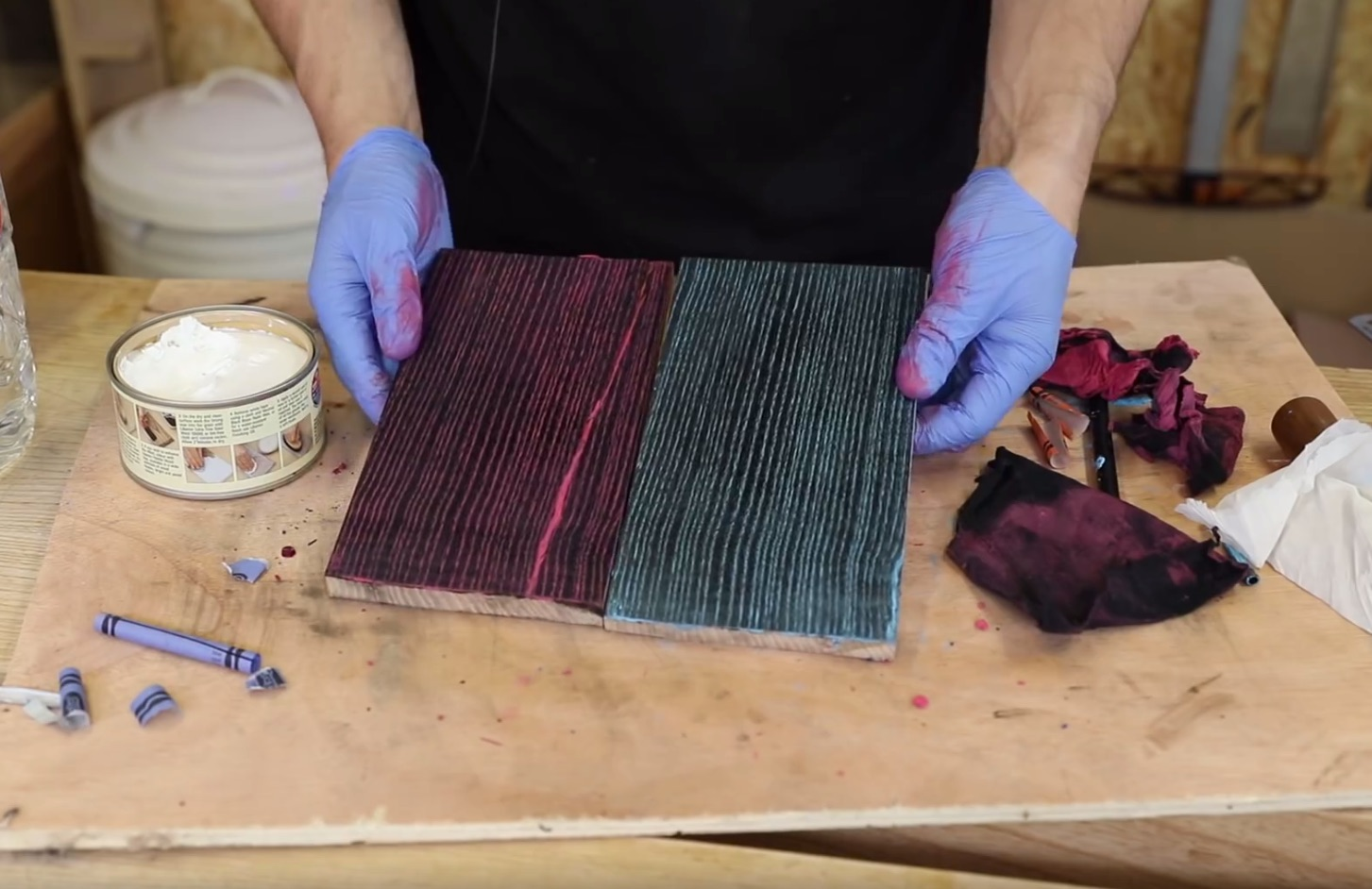 Tips of the Week: Crayon Finishes, Kitchen Hammers, Bathing Your Boards, and Great from Harbor Freight