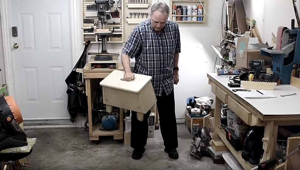 Building a Step Stool with Deployable Legs