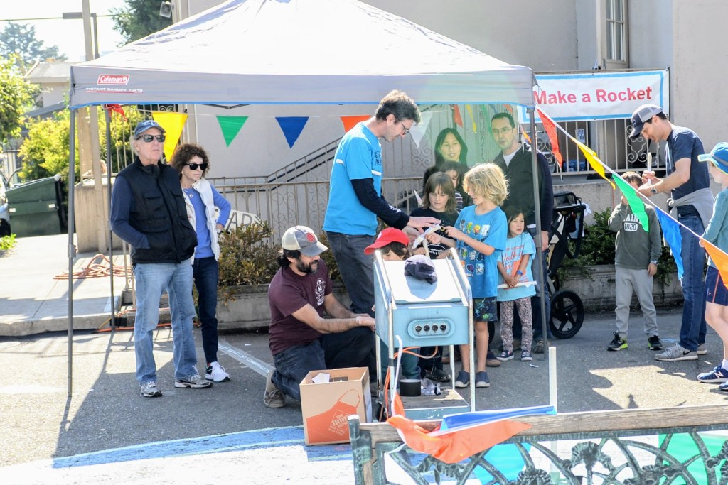 Launching Paper Rockets and Rafting a Micro-River at East Bay Maker