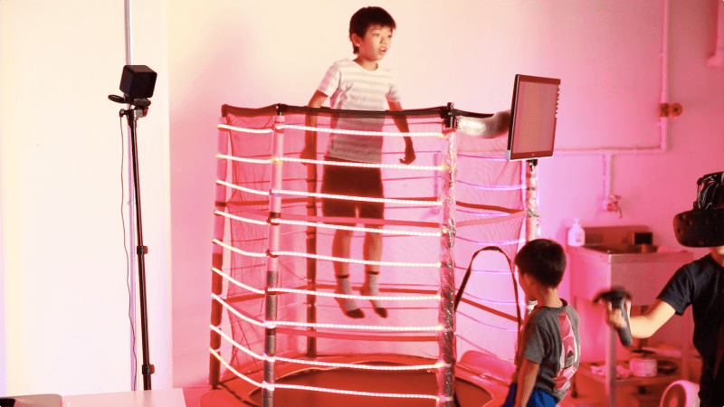 Jump For Joy With This Interactive LED Trampoline