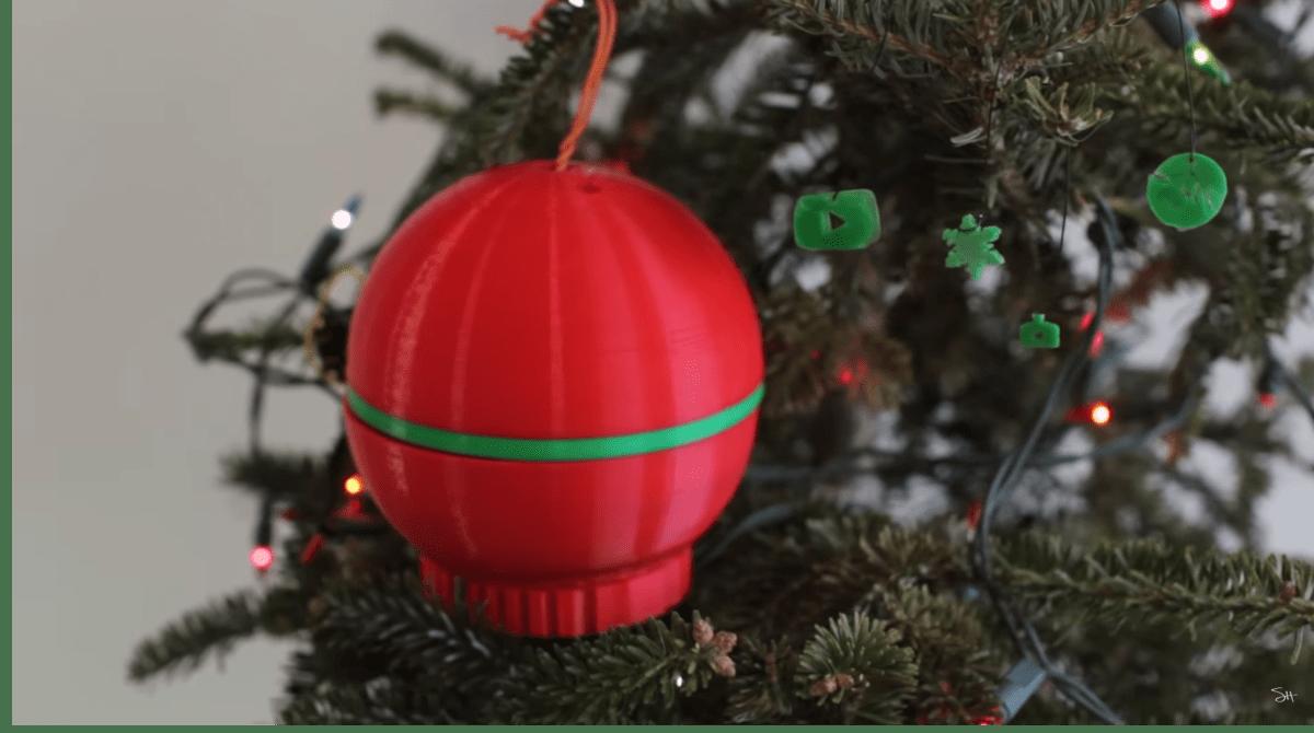 Check Sean Hodgin's 3D-Printed Ornament That 3D Prints Tiny Ornaments