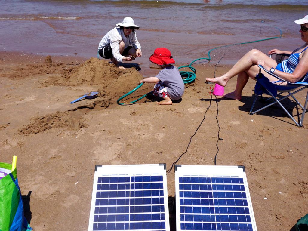 Sun-Fueled Beach Hose | Make: