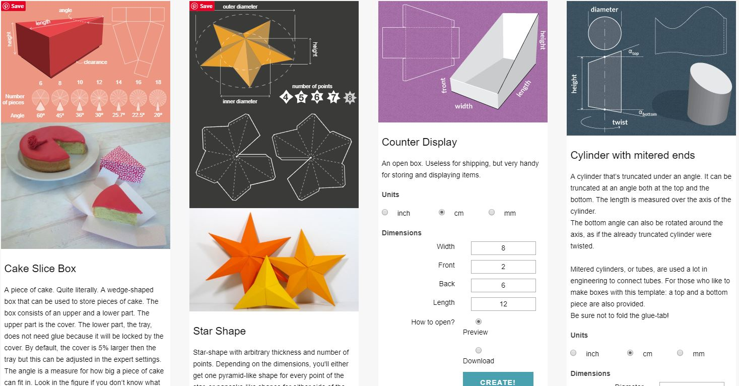 Easily Fold Useful Shapes With This Incredible Paper Template Library
