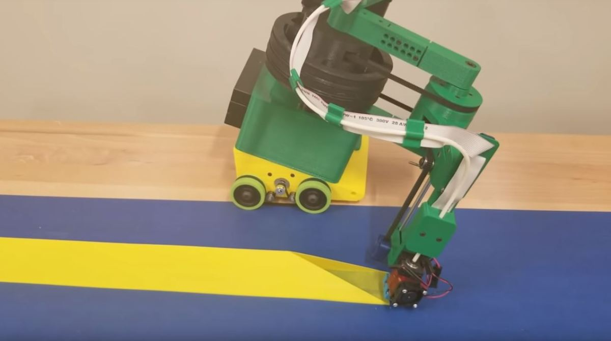 Nick Seward's Rolling 3D Printer Can Go Infinitely Long In One Direction