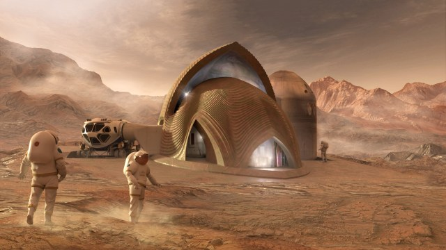 The Martian Bases Of The Future May Be 3D Printed From Regolith And Ice