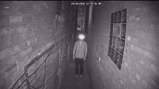 """Infared """"Reflectacles"""" glasses confuse a security camera."""
