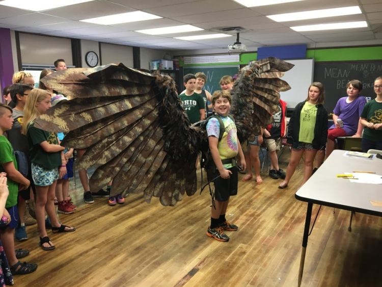 Be Amazed At Luca's Giant Articulating Wings