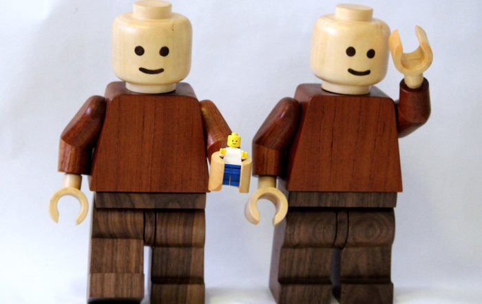 Build a Super-Sized Lego Minifig Out of Wood