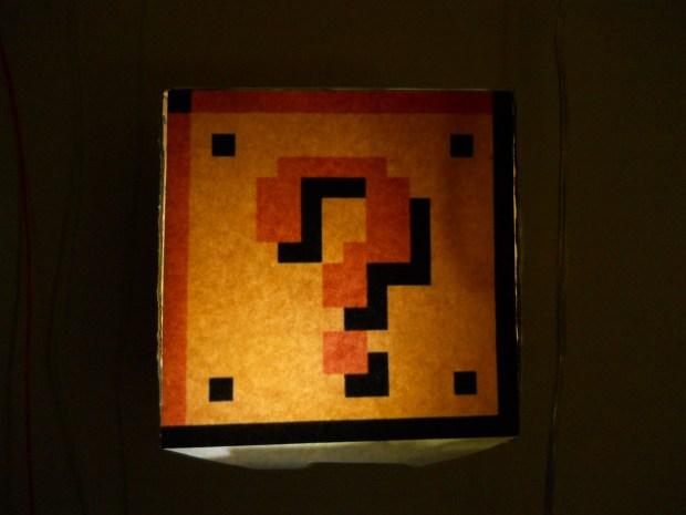 Mario Coin Block Lamp