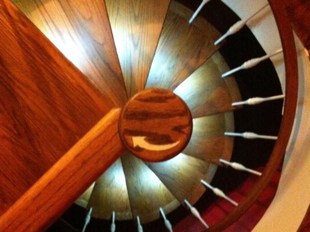Custom LED Spiral Staircase Lighting