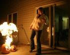 Laser-Triggered Fire-Breathing Pumpkin Prank