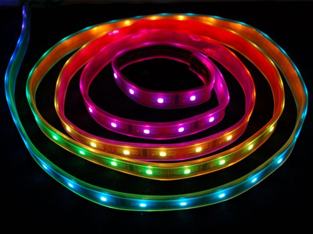 Solder a Digitally Addressable RGB LED Strip