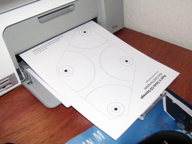 Peel 'n' Stick Disc Storage