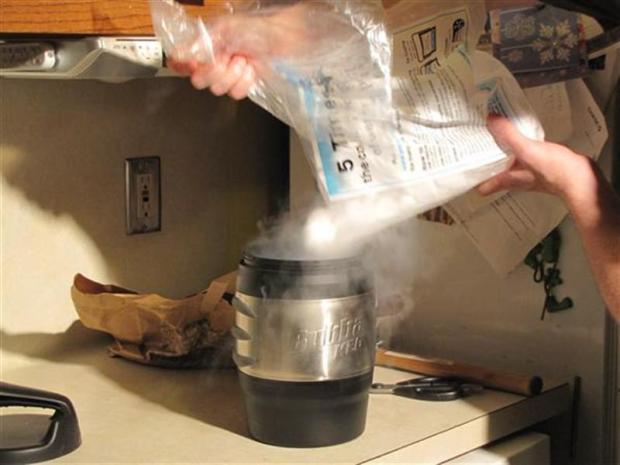 Instant Ice Cream with a Dry Ice Bath